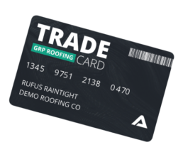 GRP roofing trade card