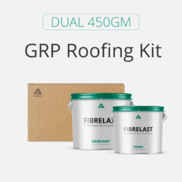 Dual 450gm GRP roofing materials kits